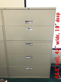 3 HON 5-Drawer Filing Cabinets (Excellent Condition)