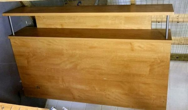 MUST GO TODAY/OBO Wooden Headboard with built in