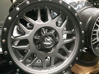 Wheels 20's gunmetal grey for Chevy or Ford.