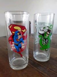 COLLECTIBLE SUPER MAN GREEN HORNET GLASSES