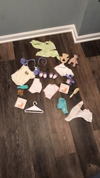 American girl Bitty baby clothes and accessories