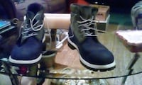 pair of black-and-white boots Capitol Heights, 20743