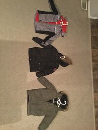 Several assorted colors bubble jackets