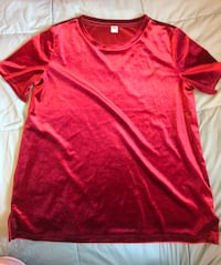Old navy red Velvet shirt size M Zillah, 98953