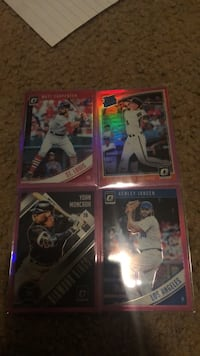 4 2018 optic donruss pink prizm rare cards! with rainbow refractor. these cards will be shipped in a white envelope!  Kodak, 37764