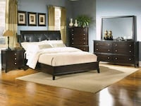 Bed frame and long dresser with mirror St. Cloud, 56303