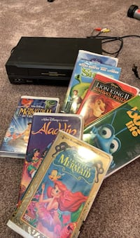 VHS player with over 40 movies