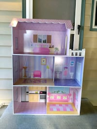 purple and white doll house University Place, 98466