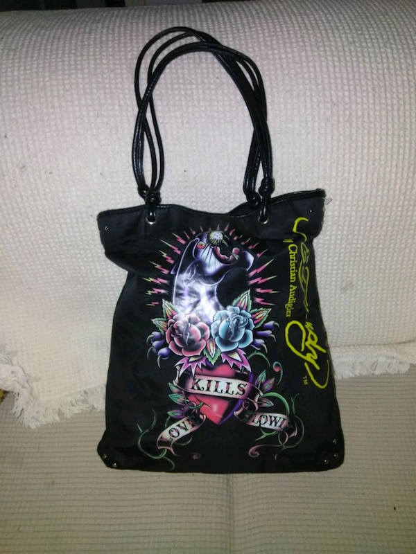 3d54c239daf5 Used Ed hardly by Christian Audigier tote bag for sale in San Benito ...