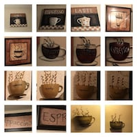 Assorted coffee decor photo-collage