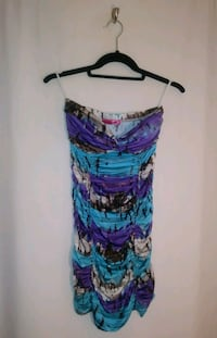 MULTI COLORED STRAPLESS DRESS Wichita