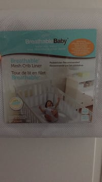BreathableBaby mesh crib liner (never opened) Laval, H7X 1M7