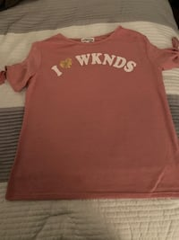 Girls I LOVE WEEKEND T-shirt size L Baltimore, 21215