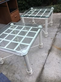3 Nice glass end tables North Augusta, 29841