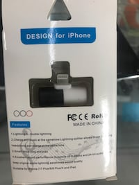 Lighting splitter for iPhone 7,8,X. Charge and listen at the same time Toronto, M9W 4J4