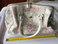 Roomy floral cream purse Toronto, M5J