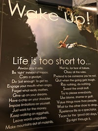"""""""life is too short to..."""" Poster Toronto, M9R 2J2"""