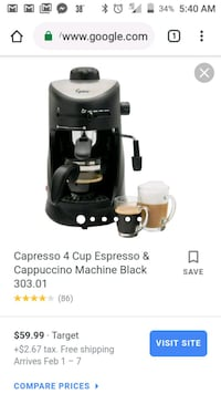 Never used Melitta cappuccino 4 cup maker Eunice, 70535