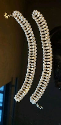 white pearl beaded necklace and earrings Surrey, V3X 1P3