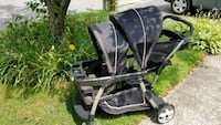 baby's black and gray tandem stroller Beachwood, 08722