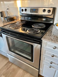 Whirlpool electric range stainless steel plus other appliances listed