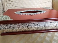 Facial Tissues / Kleenex box decorated wood with design box. Sterling Heights, 48314