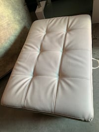 White leather ottoman with wide interior space  Laurel, 20707