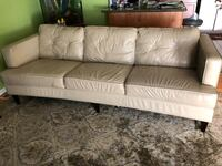 White leather 3-seat sofa with matching chair Hyattsville, 20785