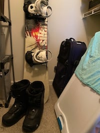 Snowboard, bindings, and boots!