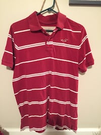 Red and white striped hollister shirt XL LaFayette, 30728