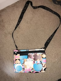 black, white, and blue Coach crossbody bag Fort Worth, 76137