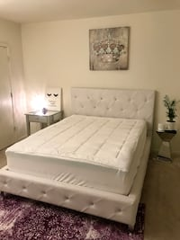 Bed and mattress queen with two mattress pads clean smoke free home 43 km