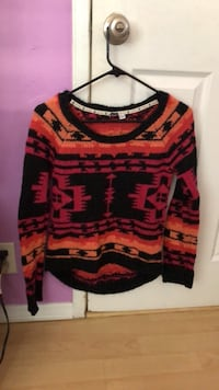 Pattern Knitted Crewneck Bellflower, 90706