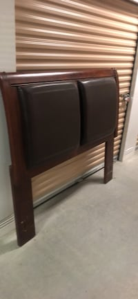 brown wooden headboard and footboard Norfolk, 23513