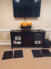 """Ent. console with 50"""" lcd tv, receiver, 5 speakers & subwoffer dvd/vcr Chantilly, 20152"""