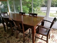 rectangular brown wooden table with six chairs din Bellport, 11713