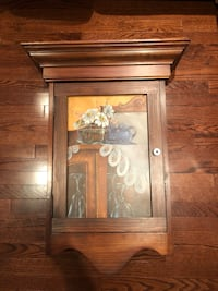 Decorative hanging wood cabinet Toronto, M4T 0A5