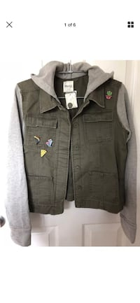 New~ Mudd Military Style Jacket with Pins Girls Plus Size 16.5~