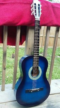 blue and black classical guitar Houston, 77091