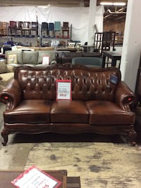 Smith Brown Leather Sofa
