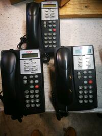 Black and grey  Avaya brand system  desk phones Montreal, H8R 2C8