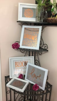 square white wooden frames with quotes