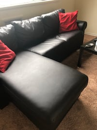 black leather padded sectional sofa 3694 km