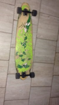 yellow and green floral skateboard London, N5Y 3W6