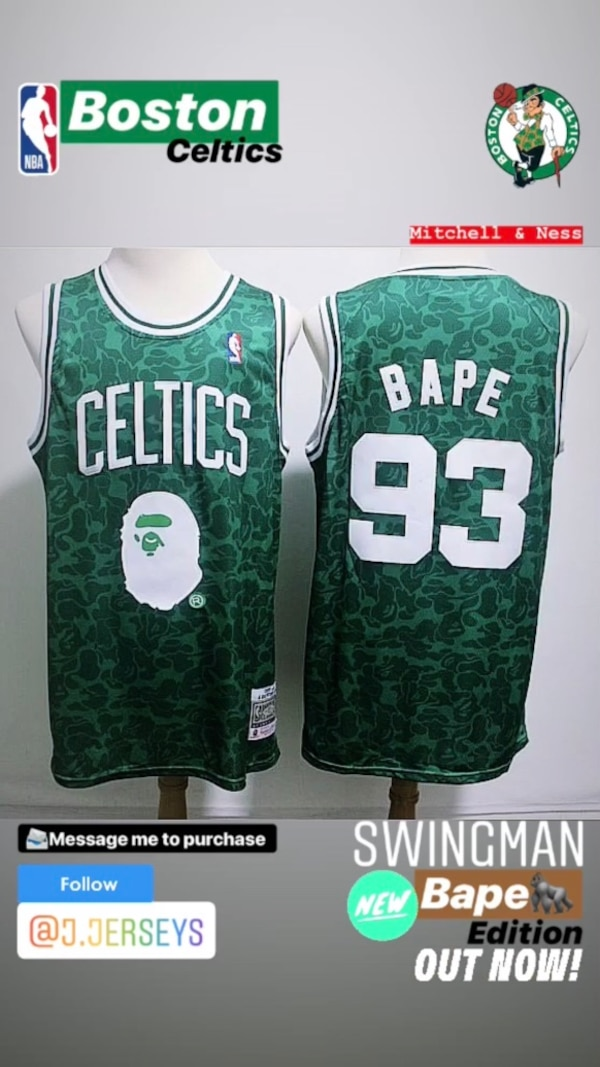 f42a1526db3 Used NBA Mitchell   Ness X Bape Collaboration SWINGMAN - Boston Celtics for  sale in Norcross - letgo