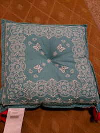 Red and blue chair pads price reduced further