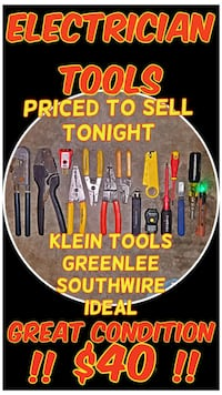 Electrician Tools - NEED GONE TONIGHT Steilacoom, 98388