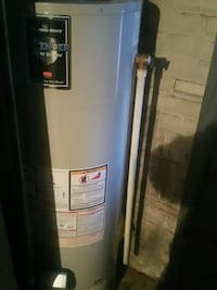white and blue water heater 47 km