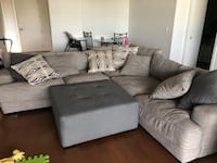 gray fabric sectional sofa with throw pillows Scottsdale, 85251