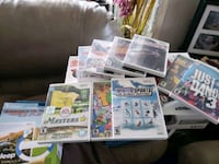 wii gaming system with several bundled accessories and games